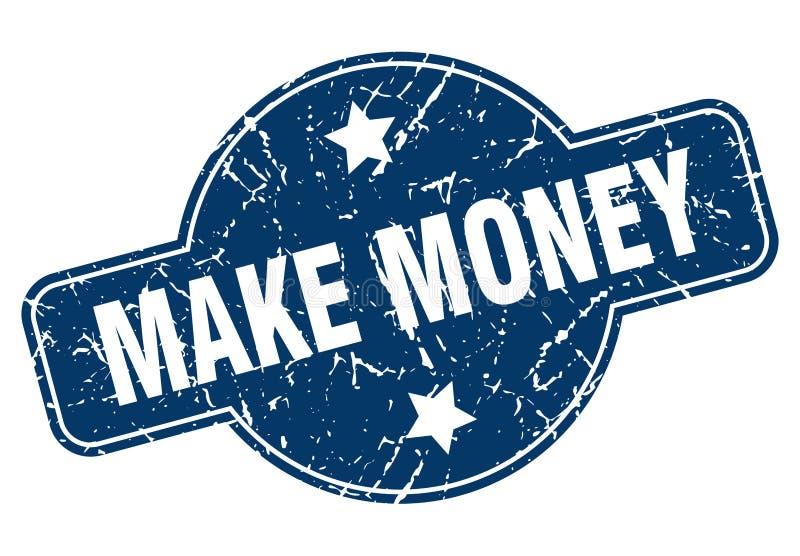 Fa?a o dinheiro carimbar ilustração stock