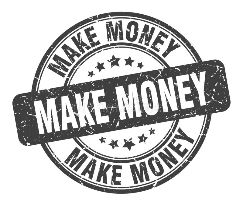 Fa?a o dinheiro carimbar ilustração royalty free