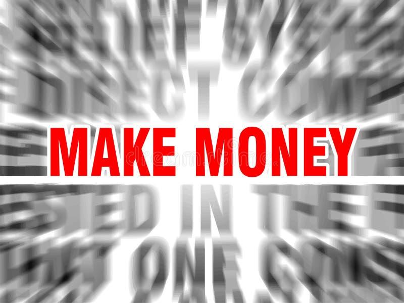 Fa?a o dinheiro ilustração do vetor