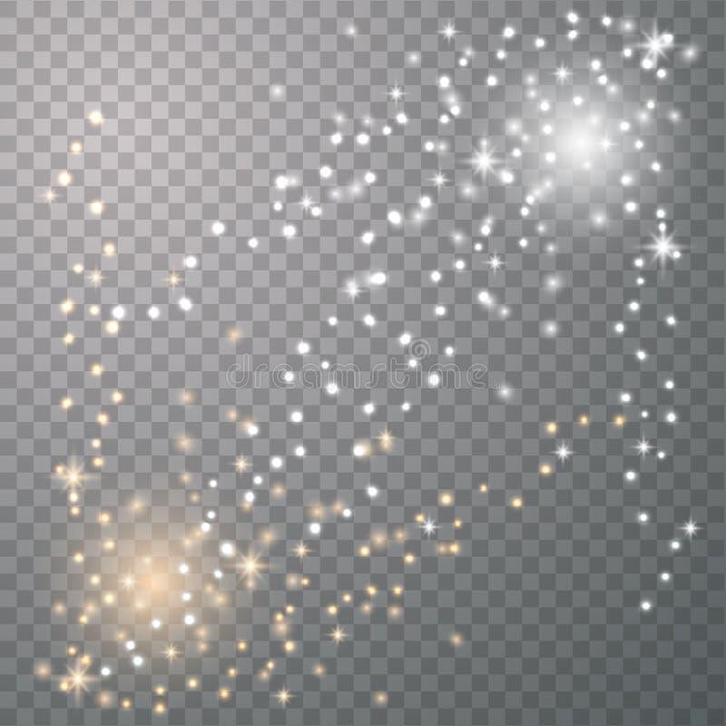 Fa?scas da poeira de estrela ilustração royalty free