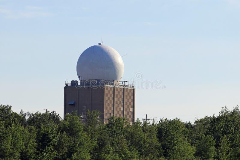 FAA Radarowa kopuła fotografia royalty free