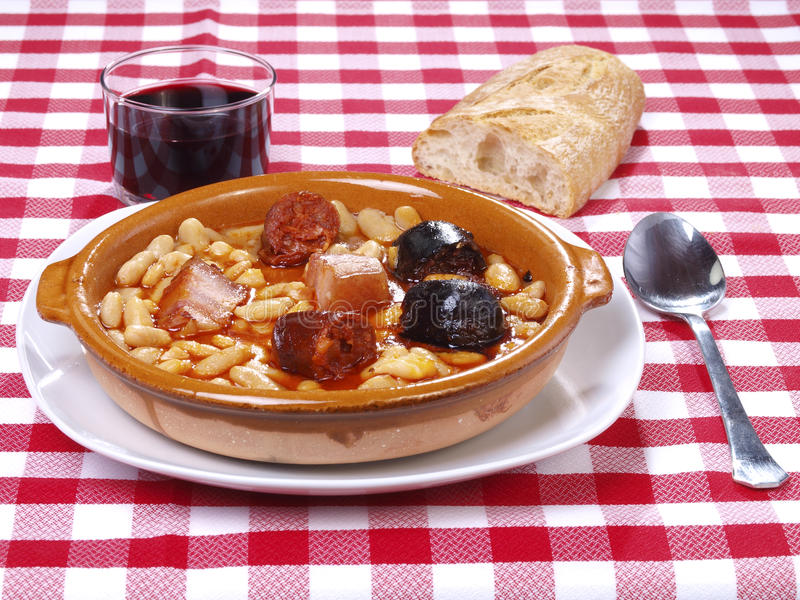 Fabada Asturiana royalty free stock images