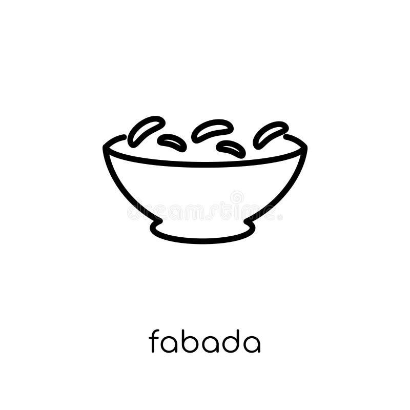 Fabada symbol  vektor illustrationer