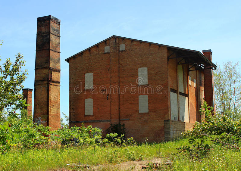 Fabbrica abbandonata del mattone. Caledon, Ontario, Canada fotografia stock libera da diritti
