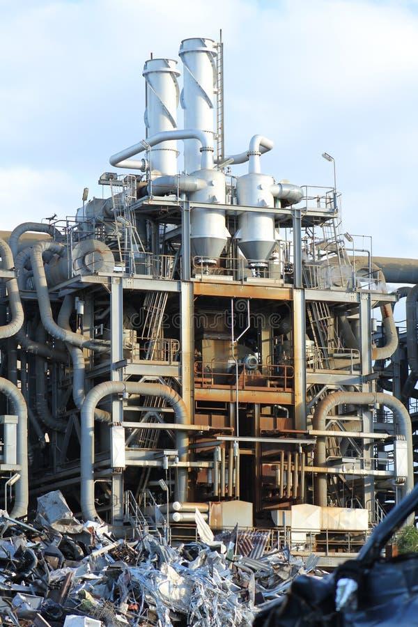fabbrica chimica vecchia immagini stock