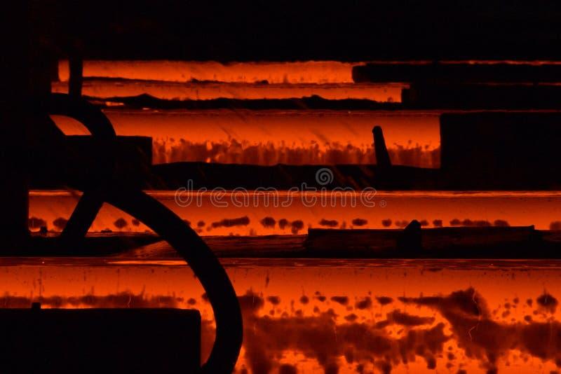 Fabbrica d'acciaio fotografia stock libera da diritti