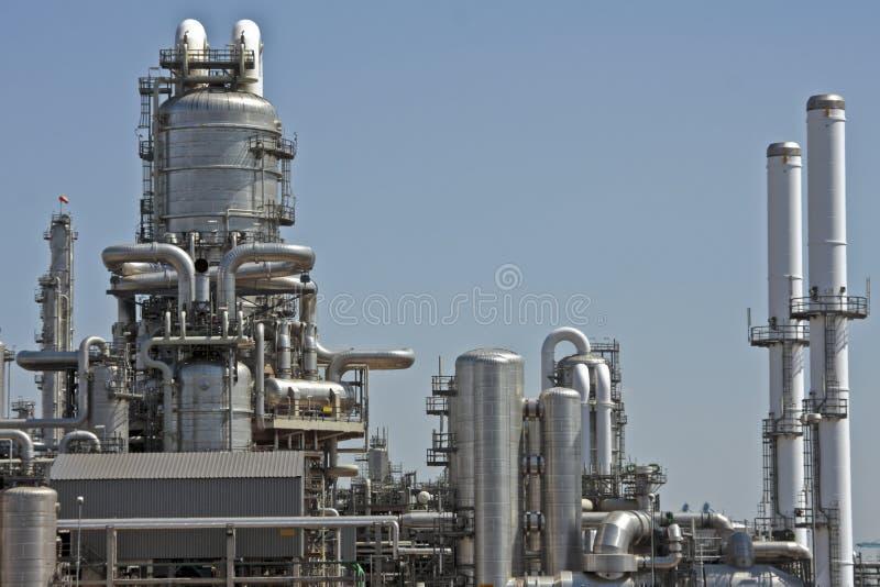 Fabbrica della benzina vicino ai Paesi Bassi di Rotterdam fotografia stock