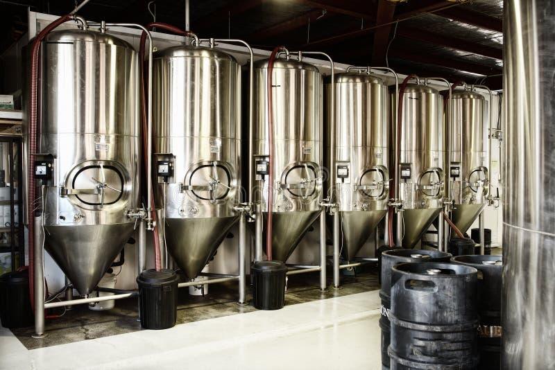 Fabbrica di birra fotografie stock libere da diritti