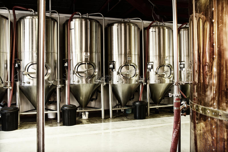 Fabbrica di birra fotografie stock