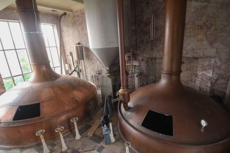 Fabbrica di birra abbandonata fotografia stock libera da diritti