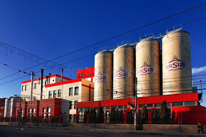 Fabbrica di birra del Ursus fotografia stock libera da diritti