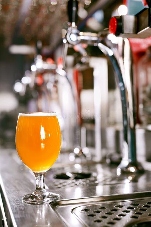 Fabbrica di birra della birra Vetro della birra fredda del grano fotografie stock