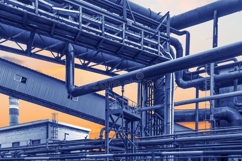 fabbrica di caldaia industriale fotografia stock