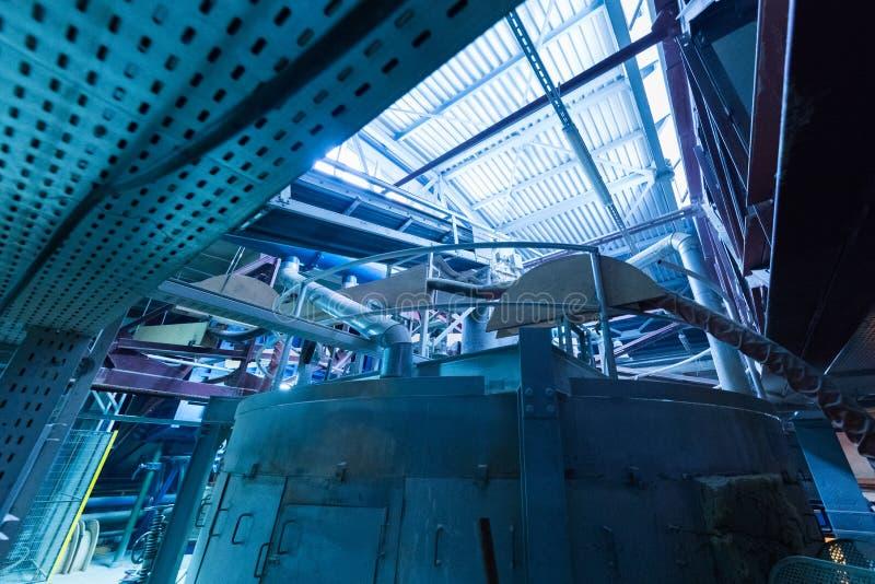 Fabbrica di fabbricazione, produzione alta tecnologia moderna fotografie stock