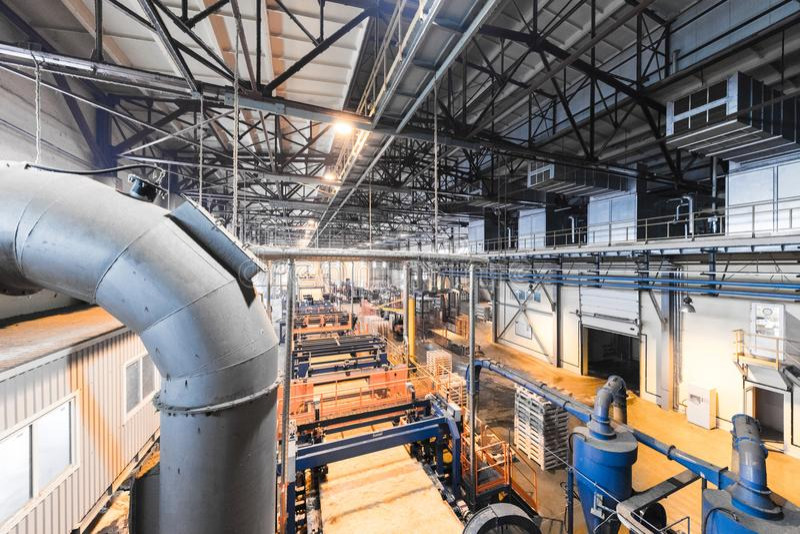 Fabbrica di fabbricazione, produzione alta tecnologia moderna immagini stock libere da diritti