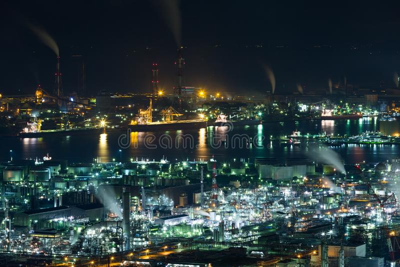 Fabbrica di industria nel Giappone immagini stock libere da diritti