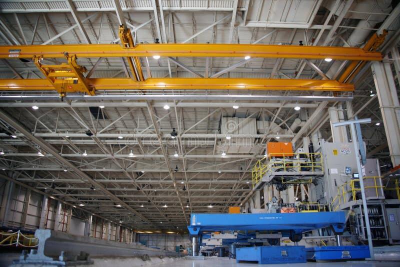Fabbrica di produzione dell'aeroplano immagine stock libera da diritti