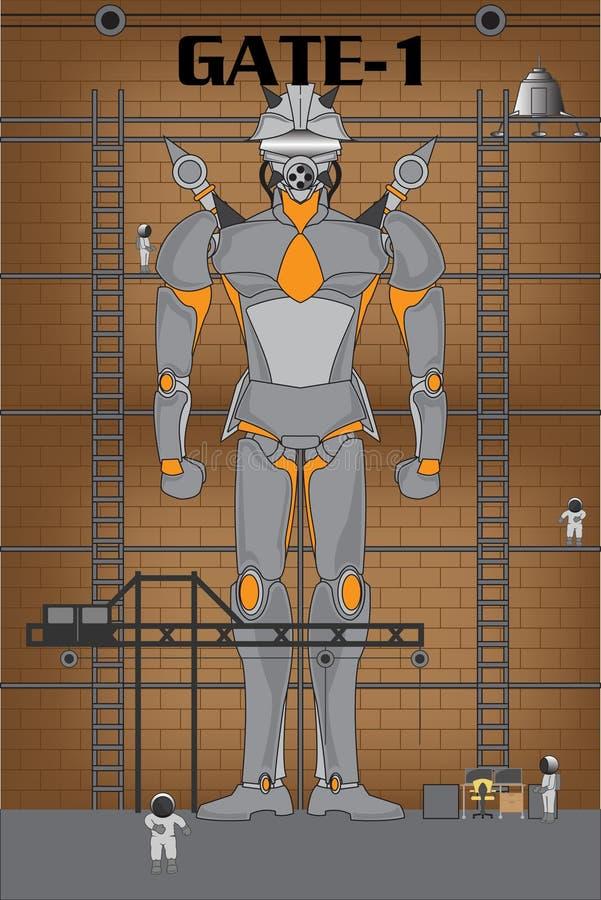 Fabbrica di robot illustrazione vettoriale