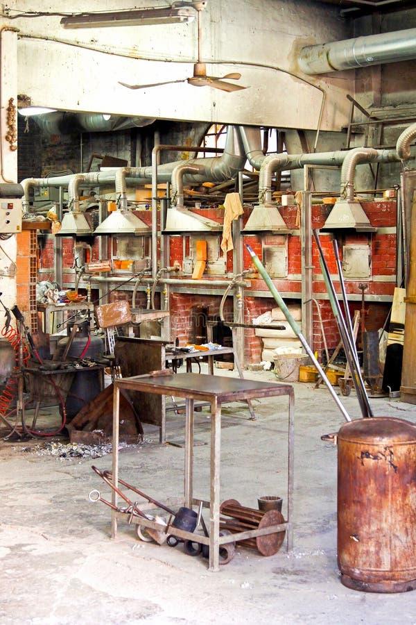 Fabbrica di vetro di Murano fotografia stock libera da diritti