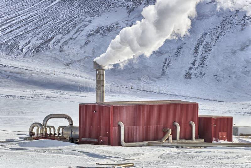 Fabbrica geotermica fotografia stock
