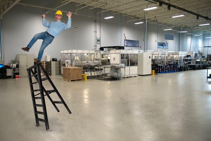 Fabbrica industriale Job Safety di fabbricazione fotografia stock libera da diritti