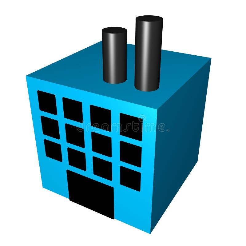 Fabbrica per fabbricazione illustrazione vettoriale