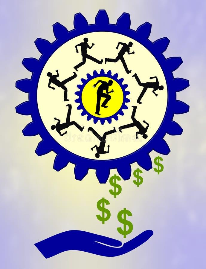 Fabbricazione dei soldi illustrazione vettoriale