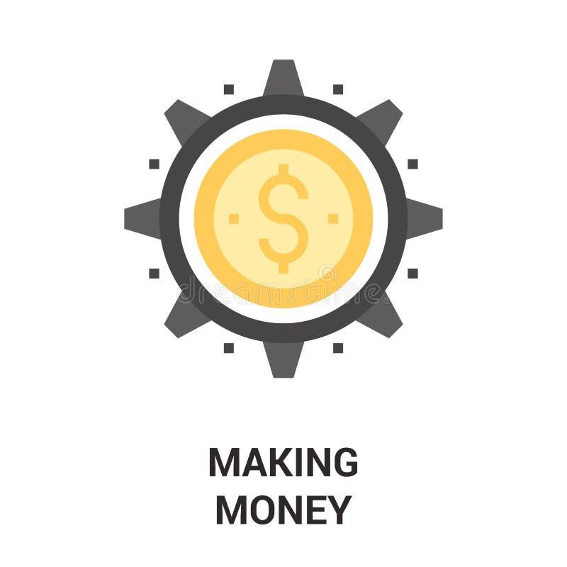 Fabbricazione del concetto dell'icona dei soldi royalty illustrazione gratis