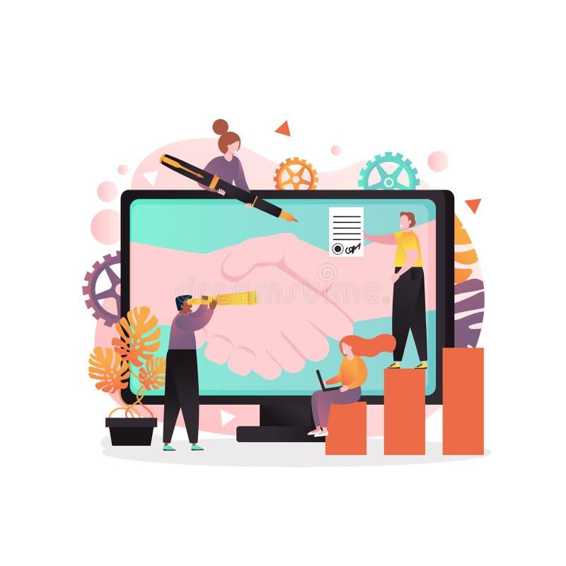Fabbricazione del concetto di vettore di affare per l'insegna di web, pagina del sito Web royalty illustrazione gratis