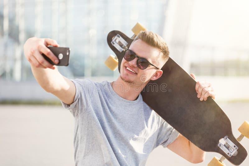 Fabbricazione del selfie fotografia stock