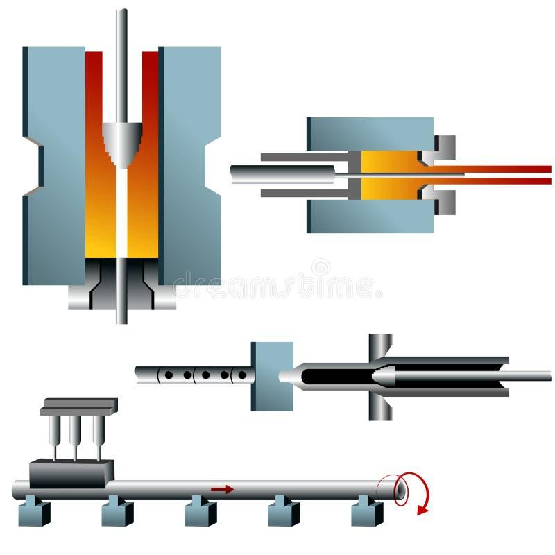 fabbricazione del tubo d'acciaio 3d royalty illustrazione gratis