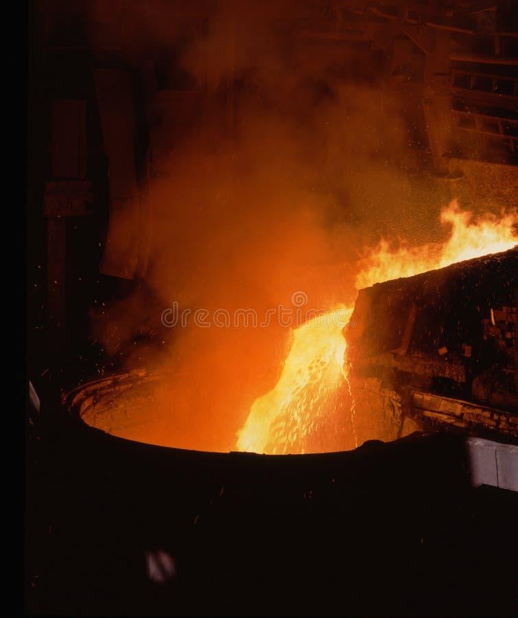 Fabbricazione dell'acciaio fotografia stock