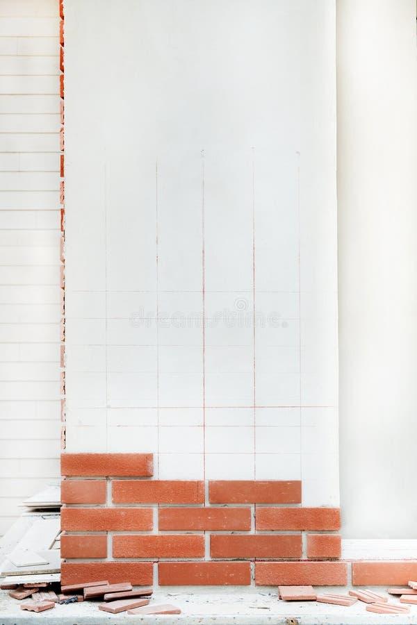 fabbricazione della decorazione dei mattoni immagini stock libere da diritti