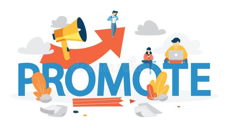 Fabbricazione della promozione speciale con l'altoparlante L'altoparlante fa l'annuncio illustrazione vettoriale