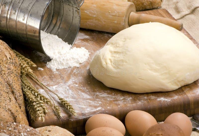 Fabbricazione della serie 009 del pane fotografie stock libere da diritti