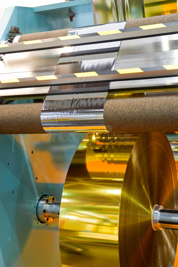 Fabbricazione di film di materia plastica immagini stock