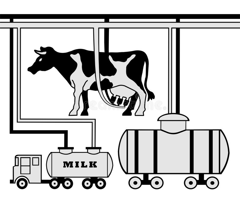 Fabbricazione di latte immagini stock libere da diritti