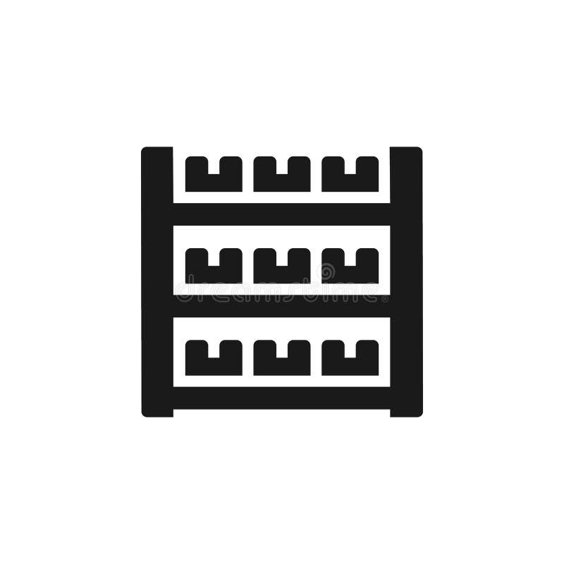Fabbricazione in serie, icona di riserva - vettore Illustrazione semplice dell'elemento dal concetto di UI Fabbricazione in serie illustrazione vettoriale
