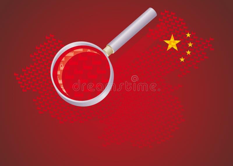 Fabbriche cinesi illustrazione vettoriale
