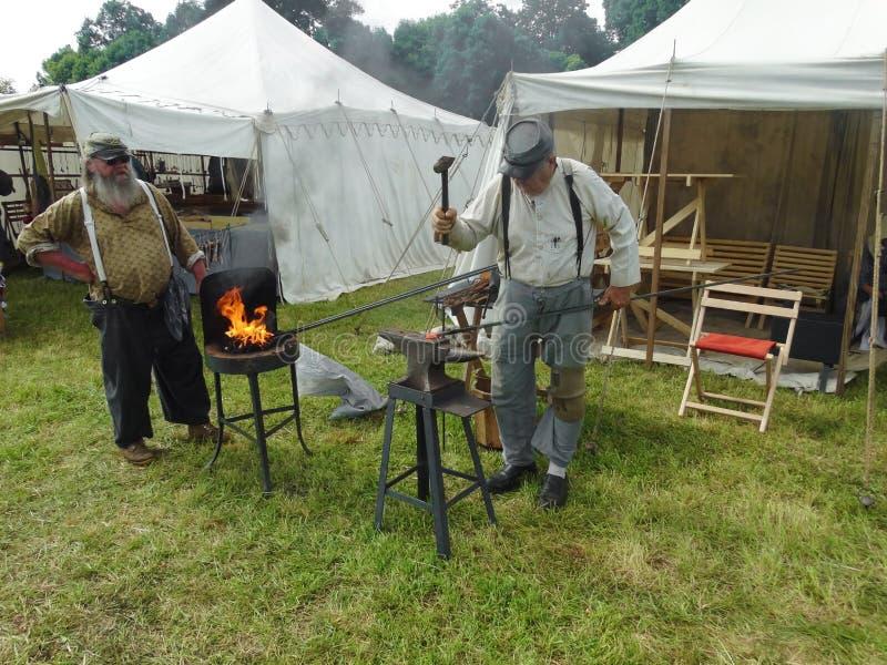 Fabbro Reenactor della guerra civile fotografie stock