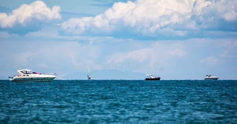 Fabelachtig beeld van een fantastische overzees op de kusten van Veneto, zijn wij op de stranden van Jesolo stock foto's
