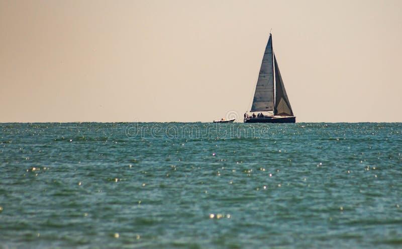 Fabelachtig beeld van een fantastische overzees op de kusten van Veneto, zijn wij op de stranden van Jesolo royalty-vrije stock foto's