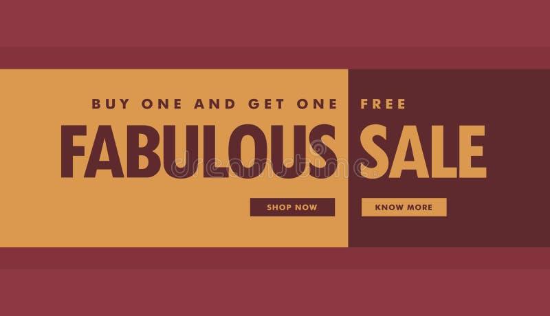 Fabelachtig de affichemalplaatje van de verkoopbanner voor bevordering royalty-vrije illustratie