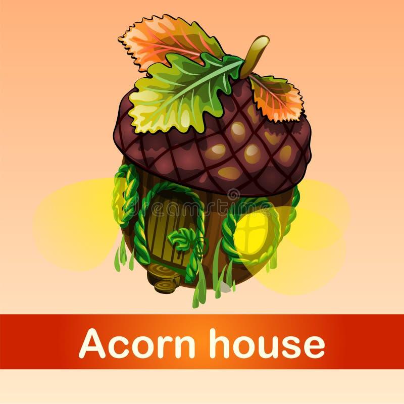 Fabelachtig huis van eikel stock illustratie