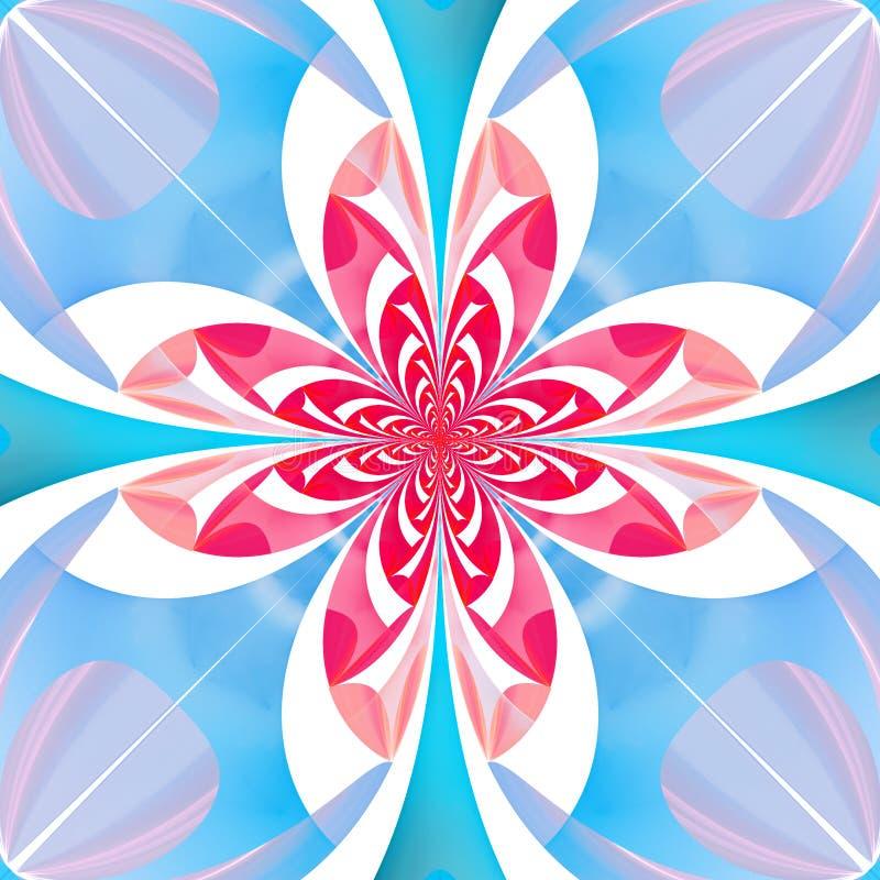 Fabelachtig multicolored bloempatroon U kunt het voor invitat gebruiken stock illustratie