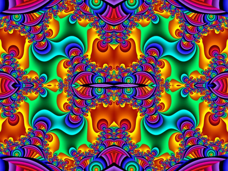 Fabelachtig multicolored patroon U kunt het voor uitnodigingen, notitieboekjedekking, telefoongeval, prentbriefkaaren, kaarten ge royalty-vrije illustratie