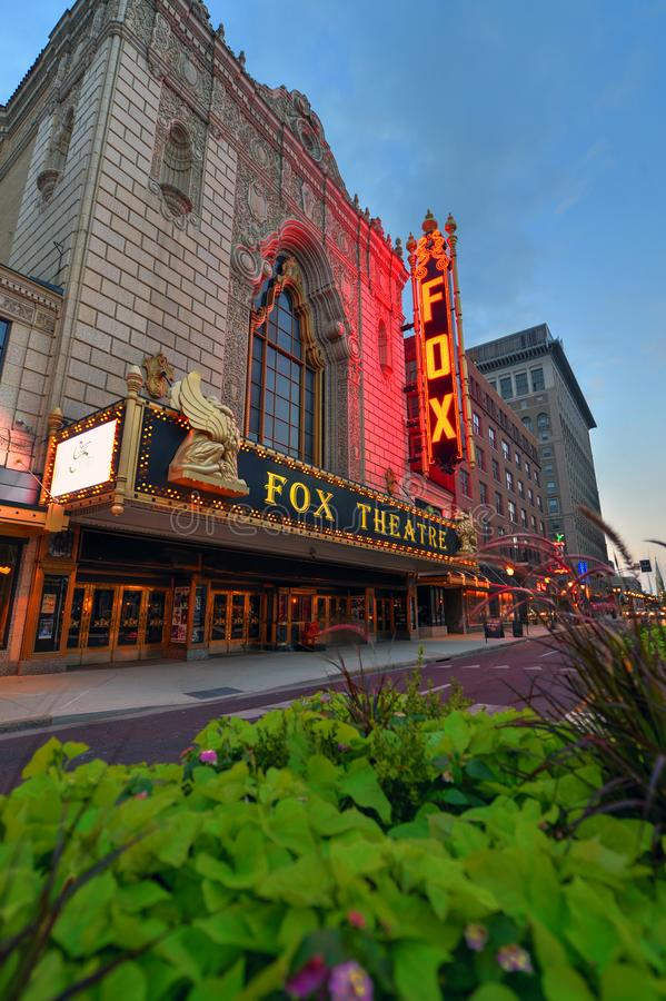 Fabelhaftes Fox-Theater in St. Louis lizenzfreie stockfotos