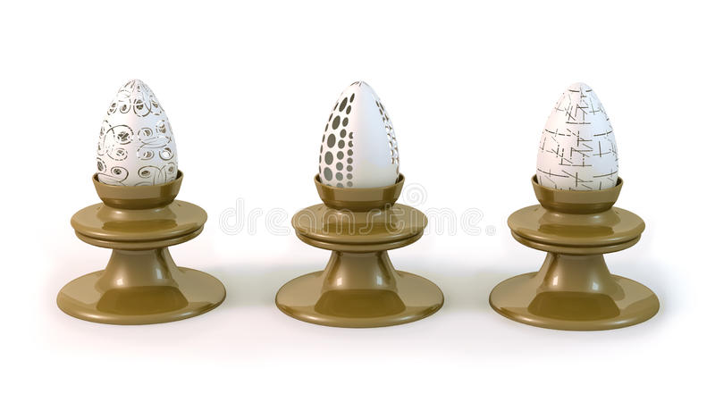 Download Faberge eggs stock illustration. Illustration of lace - 18857891