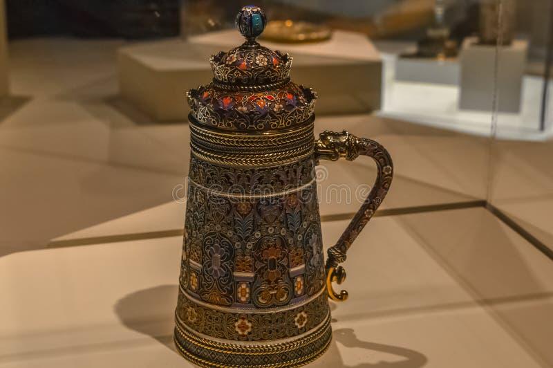 Faberge-Teekanne am Museum von schönen Künsten lizenzfreie stockfotografie