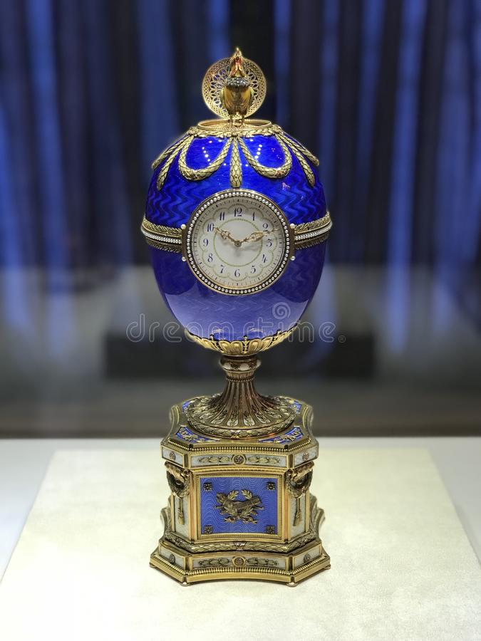 Fabergeei in Faberge-museum in St. Petersburg, Rusland stock afbeelding